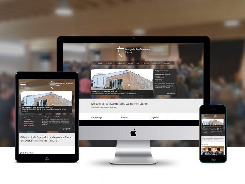 Website Evangelische Gemeente Dieren